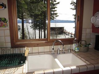 Carnelian Bay cabin photo - View from Lakeside kitchen