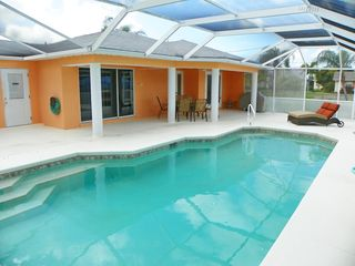 Cape Coral house photo - Relax by the heated pool.