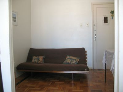 """Living Room"" with sofa bed"