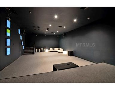 Sound Proof Concert Room with Stage. Full Concert Speakers, Lighting, Sound