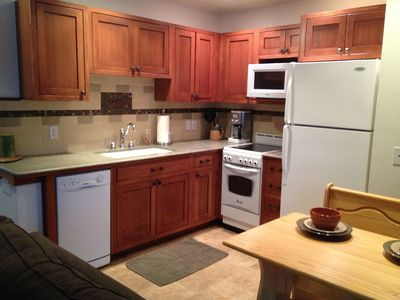 Full (and new) kitchen with lots of extras, including local coffee, tea, & honey