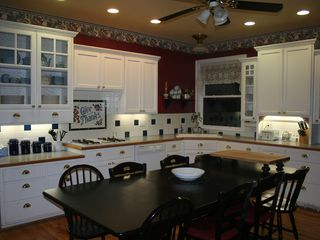 Auburn house photo - Enjoy the Large Country Kitchen for Cooking and Sharing Meals.