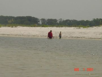 Searching for Hermit Crabs in Phillips Inlet with Granddad is fun!