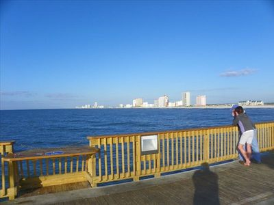 New 1500' Pier only 3/4 mile from condo - great walk to pier