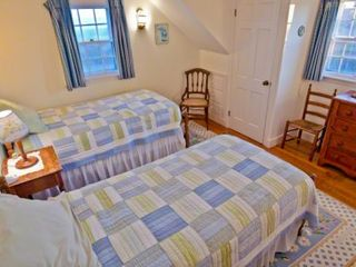 Chilmark house photo - Bedroom #3 - Two Twin Beds, With Water View. Second Floor