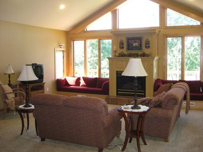 Amery house rental - Restful living room