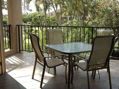Extra large and private lanai-take all your meals outside