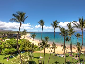 Another View from The Lanai showing Keawakapu Beach (One of the Nicest on Maui)