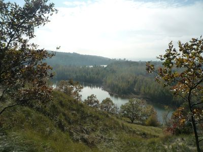 Fall view of Oxbow lagoons and Saugatuck Nature area