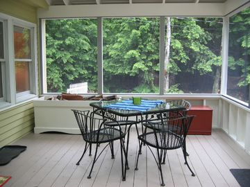Dine on the porch, enjoy the fresh air