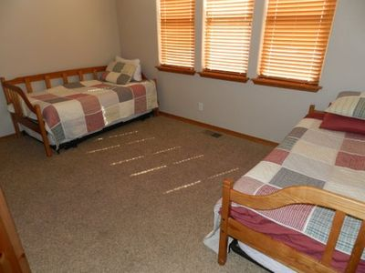 3rd bedroom with 2 twin beds with trundles