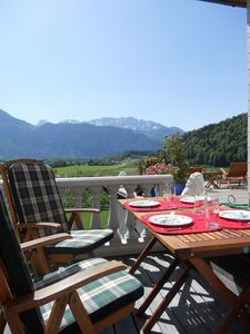 Balcony with view to the Austrian Alps