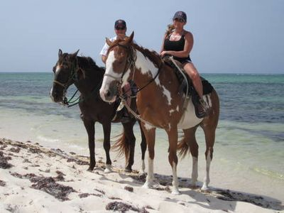Riding on the Beach in Grand Cayman