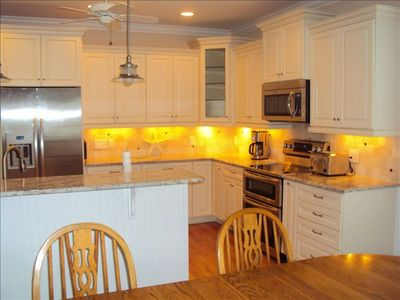 Kure Beach house rental - Fully Equiped Kitchen with Double Oven, Microwave and Dishwasher