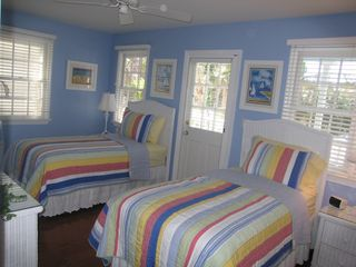 Key West townhome photo - Guest Bedroom & Balcony 2 Twins w/King Conversion