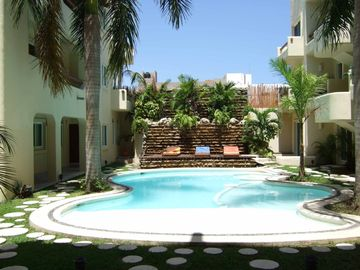 Playa del Carmen condo rental - Relax by the private pool