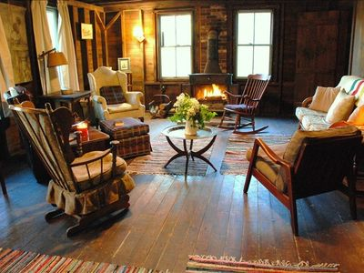 Great living room - enjoy Franklin woodstove!