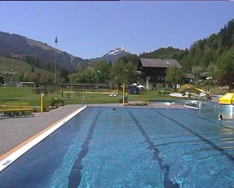 Local out door pool in Leogang