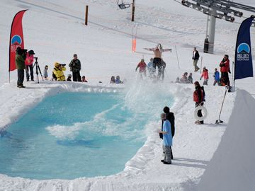 "The Annual closing day ""Pond Skim"""
