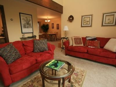 Family Room- includes wet bar and wall mounted HDTV and views of the mountains!
