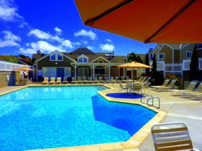 Enjoy this pool heated year round with also a Spa..