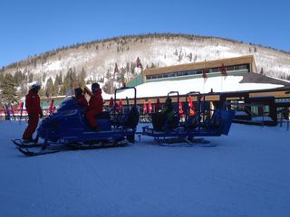 Copper Mountain condo photo - Kids enjoying a ride during Ski School STEPS FROM CONDO
