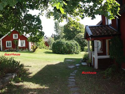Enchanting 1800 cents farm with lakeview, private beach, sauna, boat, canoes