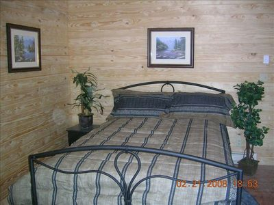 Canyon View Room. Queen Bed with awesome views of the National Forest