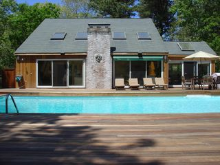 East Hampton house photo - Large heated pool and deck - perfect for sunning!