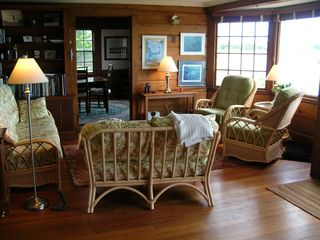 West Yarmouth house photo - Pine Paneled Family Room
