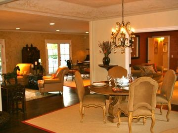Montecito house rental - Elegant furnishings in an open floor plan.