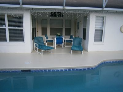 Pool and outside dining