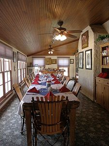 Dining room located in Main House. Gourmet breakfast served at 9am daily.