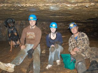 Take a guided cave tour with our staff in our nearby Private cave- ask for rates - DeSoto cabin vacation rental photo