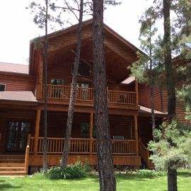 Pinetop house rental - Decks in the back for relaxing