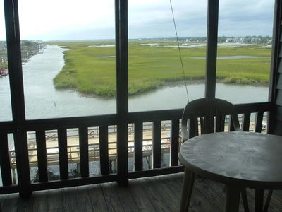 Garden City Beach condo rental - Your View from LivingRoom and Screened Balcony