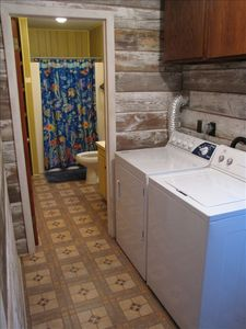 Laundry room and bathroom