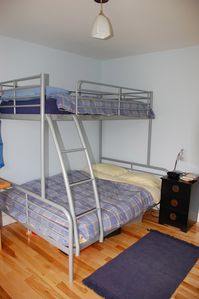 Bedroom #3: bunkbed with twin above and full below