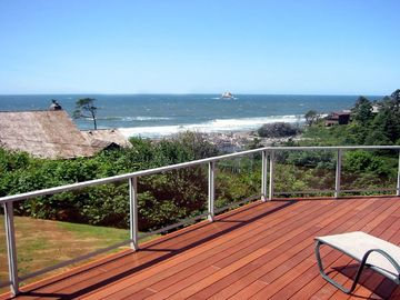 Arch Cape house rental - View of the Pacific Ocean from the deck of Cove Cottage Oregon