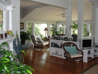Jamestown (Conanicut Island) house photo - Living area opens to cozy sun/breakfast room