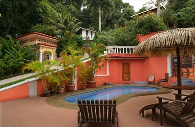 Pool deck with Villa La Cuesta, The Monkey House and Casa Eclectica