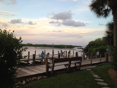 Manasota Key condo rental - Great views from the dock on the Bay side.