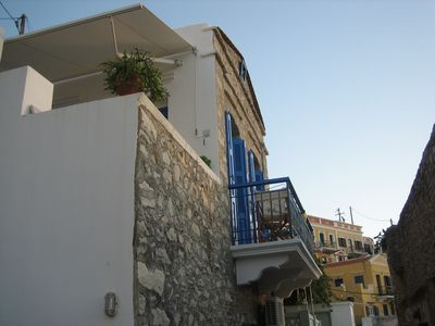 A traditional Greek home in the village by the sea front