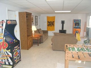 Massanutten house photo - Recreation Room with arcade games, foosball, TV