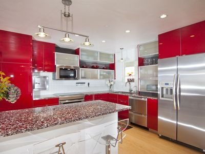 New Kitchen, it's a nice color red not so bright like it looks in picture
