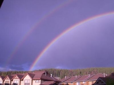A gorgeous Double Rainbow as seen from the townhome!