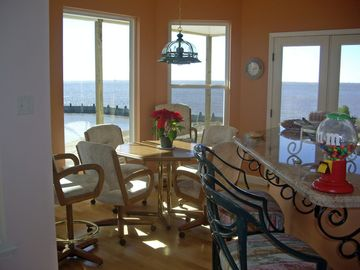 The breakfast nook. Wide views from here in all directions.