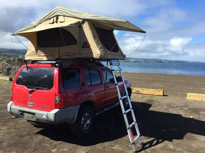 Photo of Huakau0027i Xterra + Roof Top Tent C&ing Rentals On The Island & Place Image Gallery | Road Trip Route Planner Map and Trip Guides