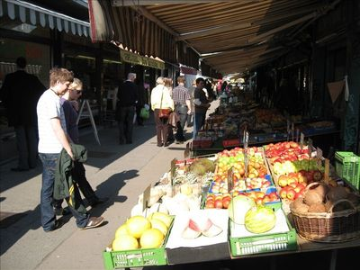 Just across the street - Europes largest open air market - the NASCHMARKT