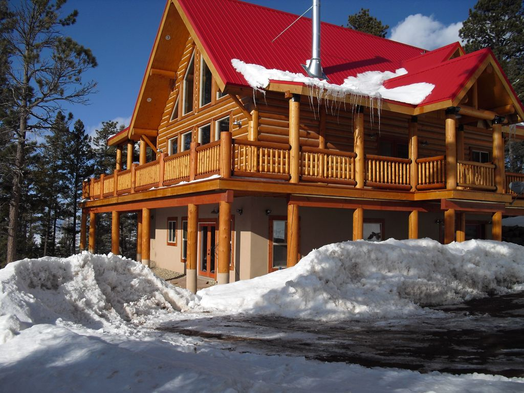 Ski In Ski Out Beautiful Log Home 9 Seconds Homeaway